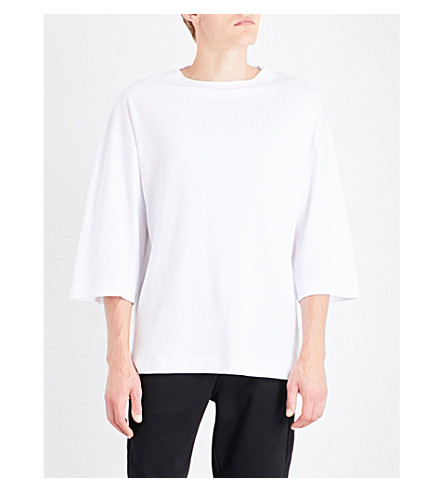 CALVIN KLEIN Hyper cotton-blend sweatshirt (Bright+white-pt