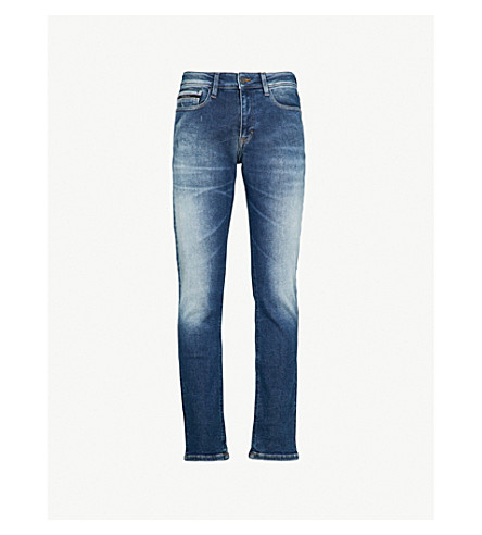 CALVIN KLEIN JEANS Slim-fit straight-leg jeans (Columbus+blue