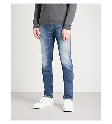 CALVIN KLEIN JEANS Slim-fit straight-leg jeans (Columbus+blue