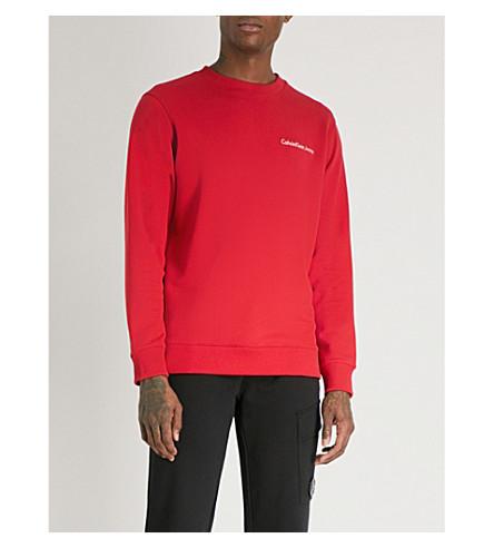 CALVIN KLEIN JEANS Horos cotton-blend sweatshirt (Tango+red