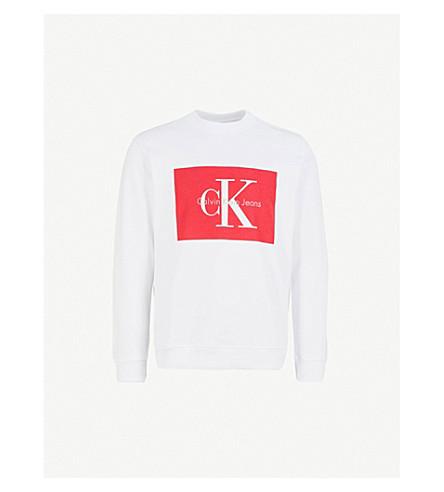 CALVIN KLEIN JEANS Hotoro cotton-jersey sweatshirt (Bright+white