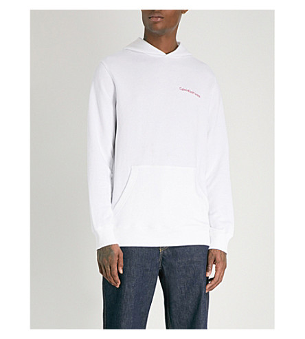 CALVIN KLEIN JEANS Horos cotton-blend hoody (Bright+white