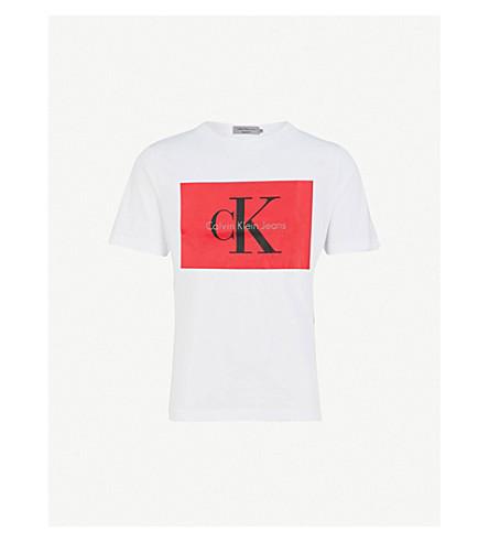CALVIN KLEIN JEANS Tikimo cotton-jersey T-shirt (Bright+white