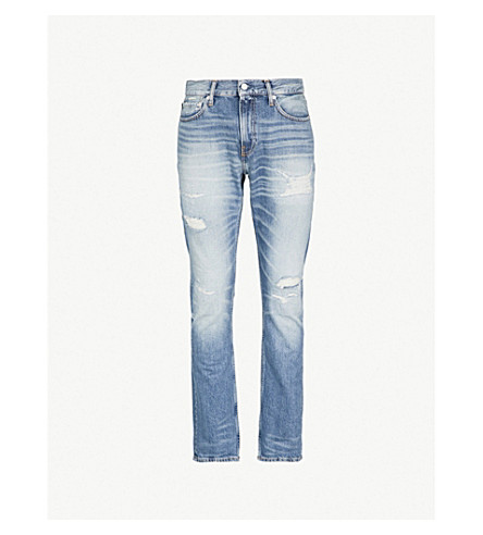 CK JEANSCKJ 025 修身版型直牛仔裤 (Luella + 蓝 + dstr