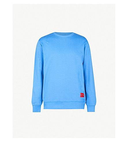 CK JEANS Logo-print cotton-jersey sweatshirt (Regatta