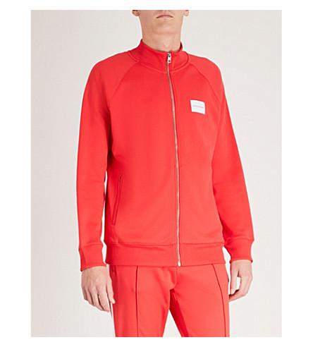 CK JEANS Logo-patch cotton-blend jacket (Tomato