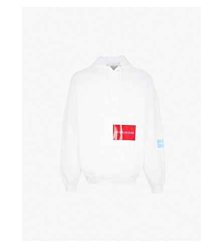 CK JEANS多片棉混合帽衫 (亮 + 白 +/+ 天 + 蓝