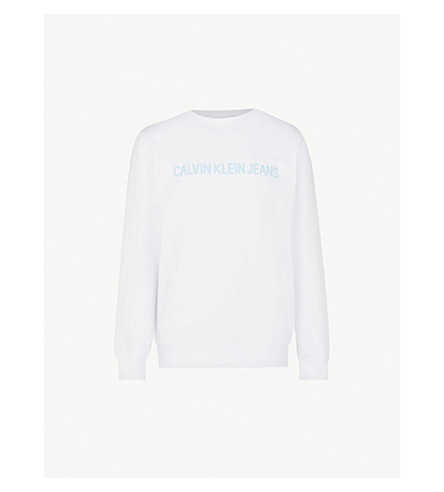 CK JEANS机构平纹针织棉卫衣 (亮 + wwhite