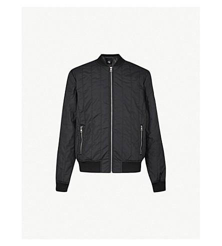 CK JEANS Side pockets quilted shell bomber jacket (Ck+black
