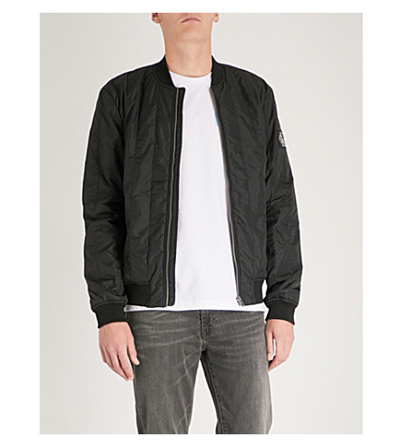 CK JEANS Side pockets quilted shell bomber jacket (Ck+black