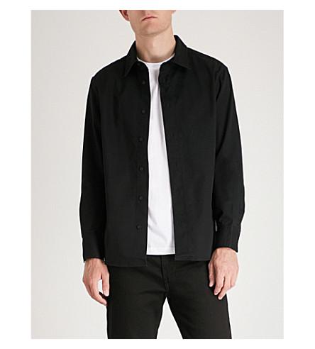 CK JEANS Institutional regular-fit cotton-blend shirt Ck black Discount Fast Delivery Deals Sale Online Cheap Professional 9aILmJpl7