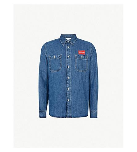 CK JEANS Logo-print denim shirt (Denmark blue
