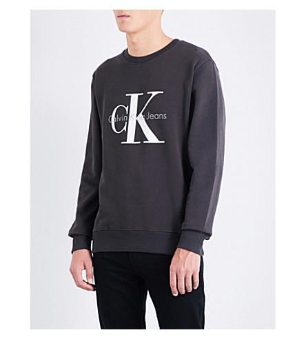 CALVIN KLEIN Logo cotton sweatshirt (Meteorite
