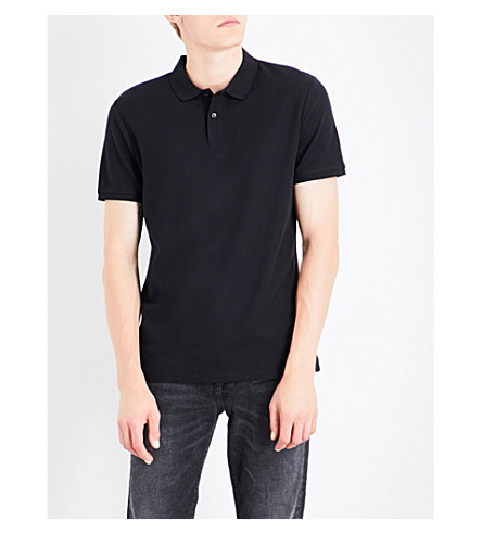 CALVIN KLEIN Jacob cotton-piqué polo shirt (Black
