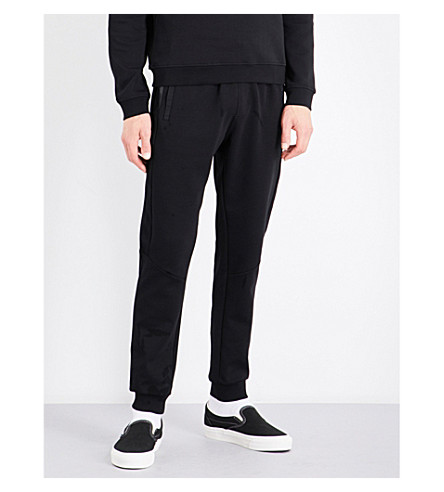 CALVIN KLEIN Kanter mid-rise cotton-blend jogging bottoms (Black