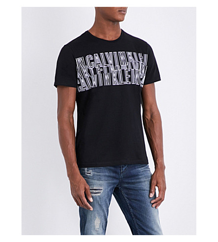 CALVIN KLEIN Japet cotton-jersey T-shirt (Black