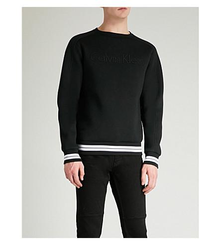 CALVIN KLEIN Kall logo neoprene sweatshirt (Black