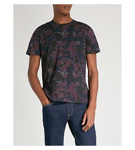 CALVIN KLEIN 雅兰伪装-印花棉衫 t恤衫 (紫色