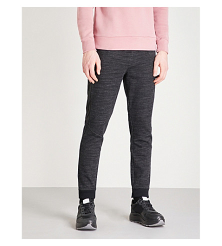 CALVIN KLEIN Side-stripe cotton-blend jogging bottoms (Black