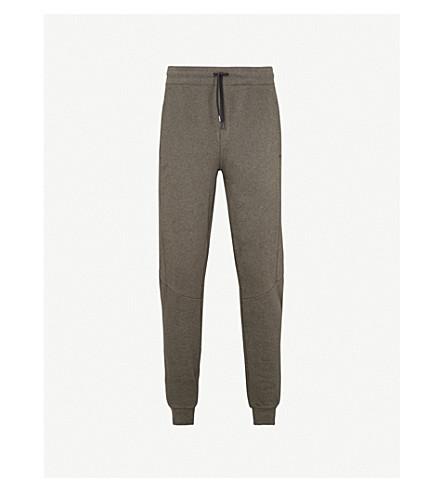 CALVIN KLEIN Katma cotton-jersey jogging bottoms (Olive+htr