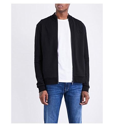 CALVIN KLEIN Kanet zip-up cotton-jersey jacket (Perfect+black