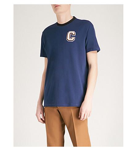 CALVIN KLEIN Jarus cotton-piqué T-shirt (Blue