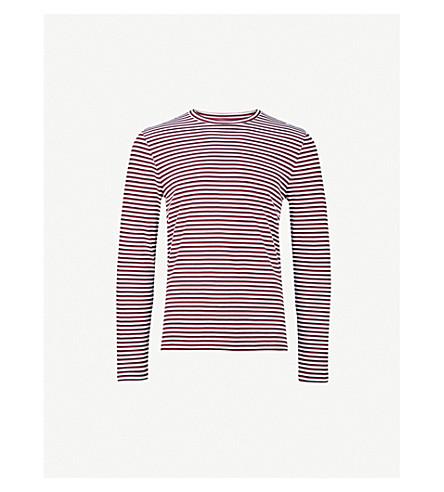 CALVIN KLEIN Jasket striped cotton-jersey top (Red