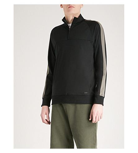 CALVIN KLEIN Kanat cotton-jersey sweatshirt (Black