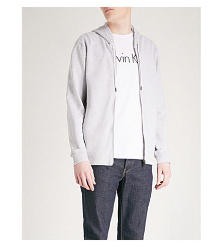 CALVIN KLEIN Kamso cotton-jersey hoody (Grey
