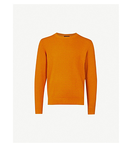CALVIN KLEIN Sasma cotton and wool-blend jumper (Brown