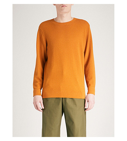 CALVIN KLEIN Sasma cotton and wool-blend jumper (Brown
