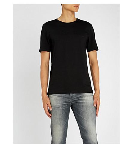 CALVIN KLEIN Logo-print cotton-jersey T-shirt (Black