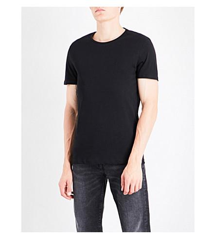 CALVIN KLEIN Travor logo cotton-jersey T-shirt (Black