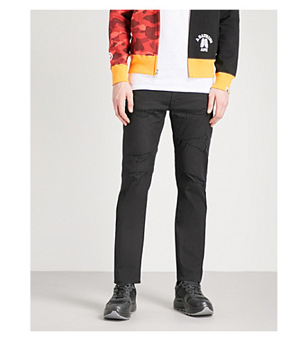 A BATHING APE 2008 Type-05 slim-fit tapered jeans (Black