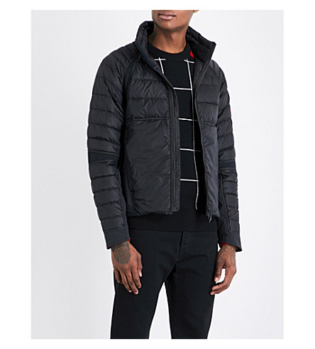 CANADA GOOSE Hybridge perren quilted down and feather-blend jacket (Black