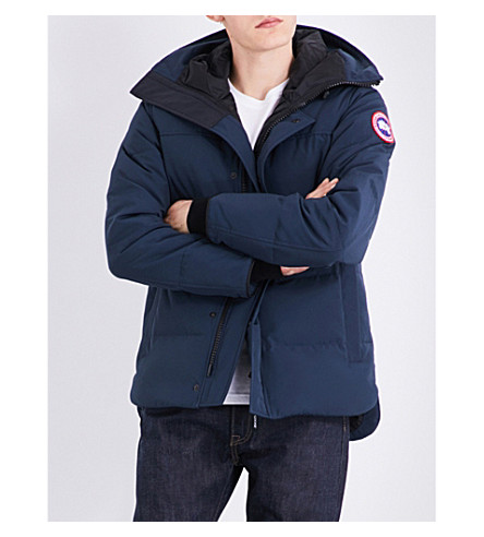CANADA GOOSE Macmillan quilted shell parka (Ink+blue
