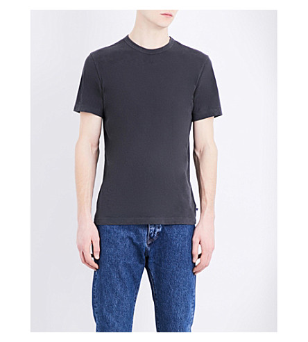 JAMES PERSE Crewneck cotton-jersey T-shirt (Carbon