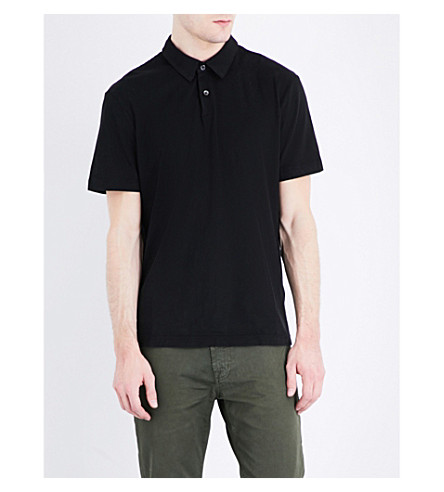 JAMES PERSE Cotton-jersey polo shirt (Black