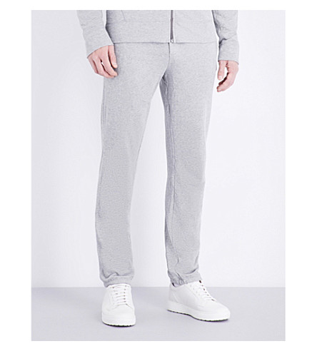 JAMES PERSE Vintage cotton-jersey jogging bottoms (Heather+grey