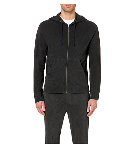 JAMES PERSE Vintage cotton-jersey hoody (Carbon