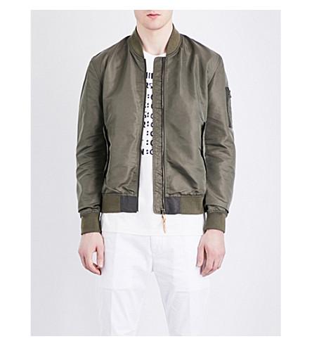 CLOSED Shell bomber jacket (Green