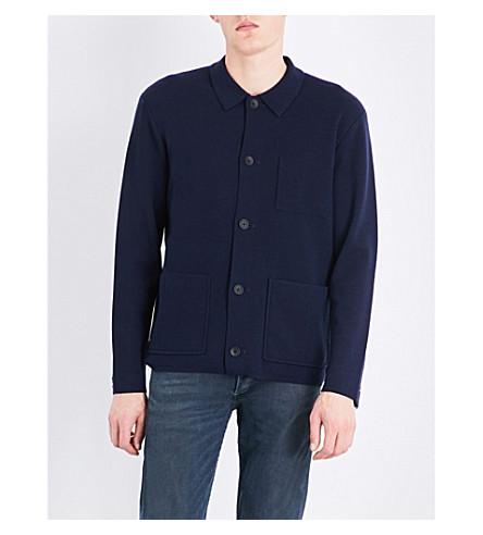 RAG & BONE Harrison fine-knit wool-blend cardigan (Navy