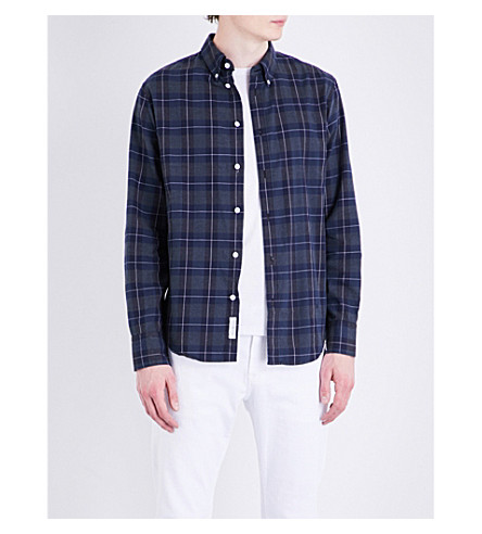 RAG & BONE Tomlin cotton-flannel shirt (Navy+multi