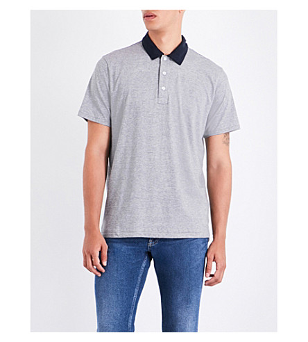 RAG & BONE Colour Block cotton-jersey T-shirt (Navy+grey