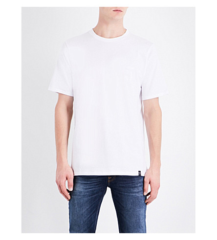 RAG & BONE Flocked-logo cotton-jersey T-shirt (White