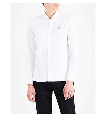 MAISON KITSUNE Regular-fit oxford-cotton shirt (White