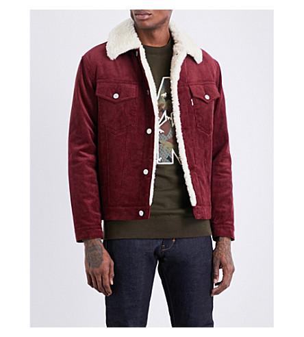 MAISON KITSUNE Trucker corduory jacket (Burgundy