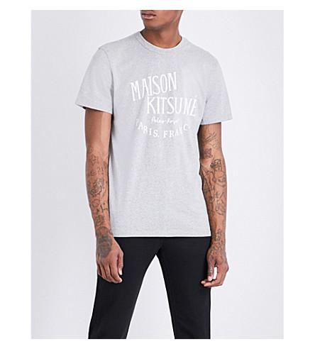 MAISON KITSUNE Palais Royal cotton-jersey T-shirt (Grey+melange