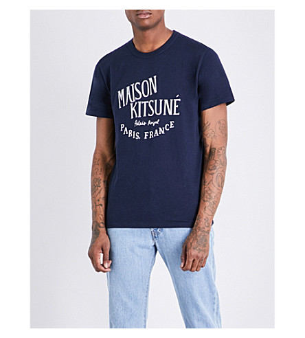 MAISON KITSUNE Palais Royal cotton-jersey T-shirt (Navy