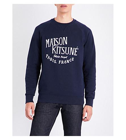 MAISON KITSUNE Palais Royal cotton-jersey sweatshirt (Navy